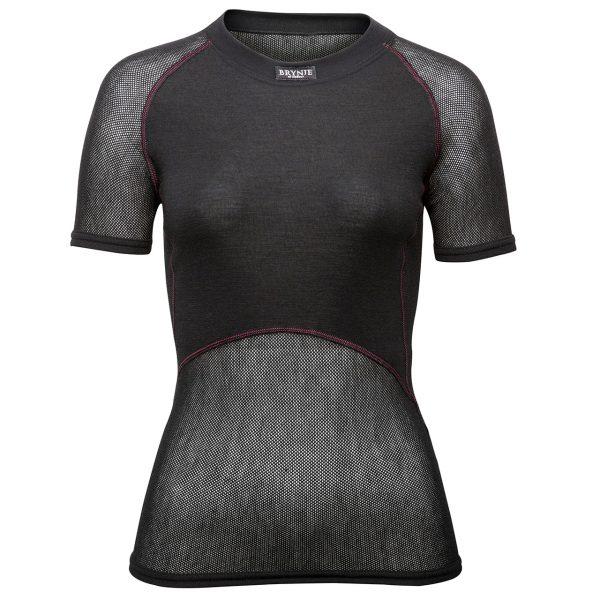 Brynje Fine Wool Mesh T-Shirt in Black