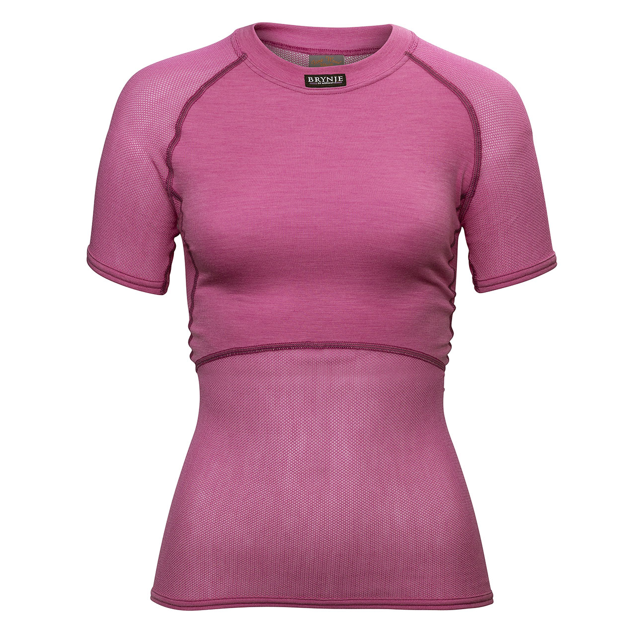 Wool Thermo Fine Mesh Women's T-Shirt - Pink