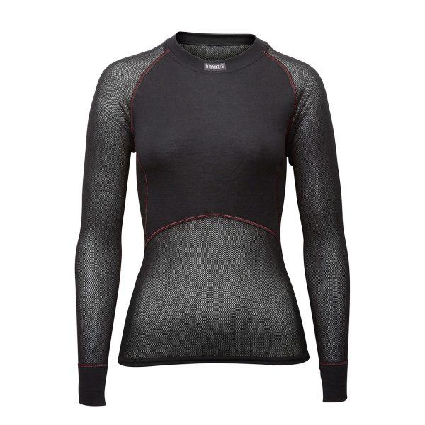Women's Wool Thermo Light Long Sleeve Shirt - Black