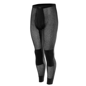 Wool Thermo Mesh Longs with Inlay - Black
