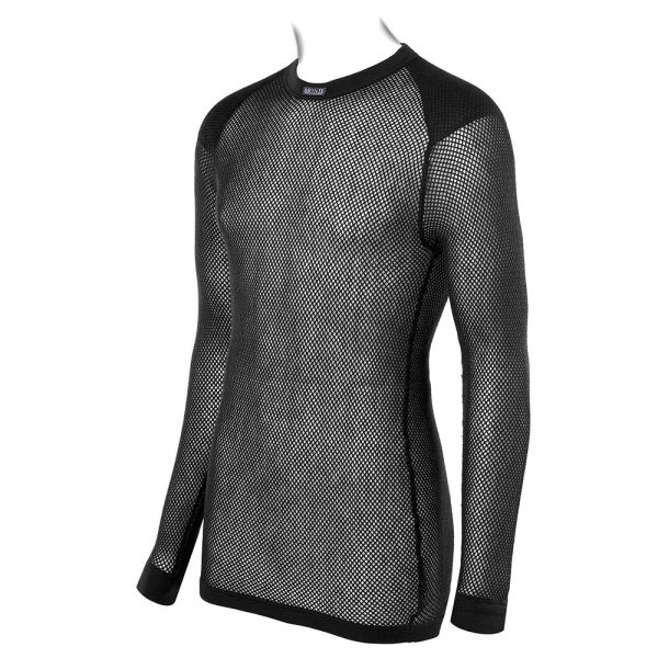 Unisex Long Sleeve Shirt with Inlay - Black
