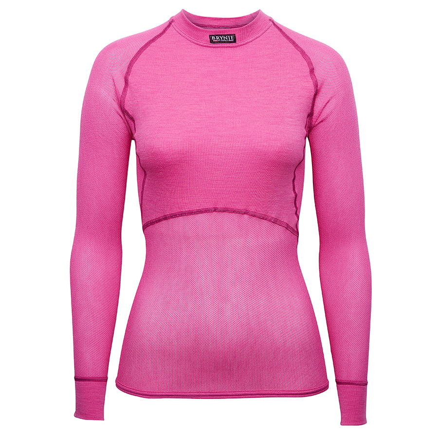 Women's Wool Thermo Light Long Sleeve - Pink