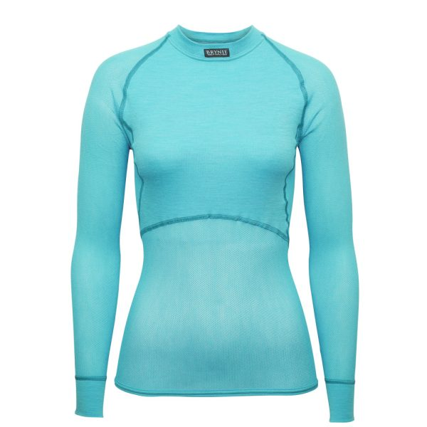 Women's Wool Thermo Light Long Sleeve - Aqua