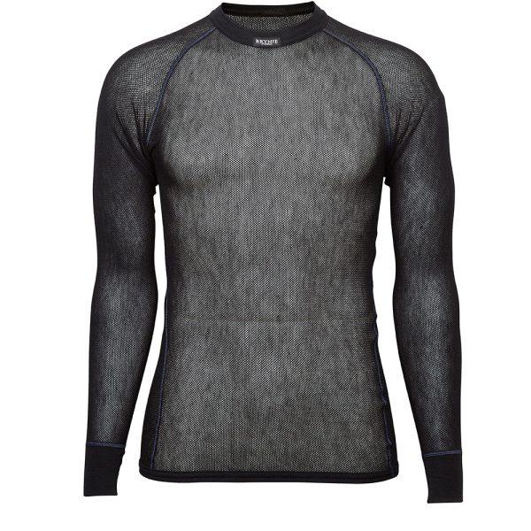 Wool Thermo Light Long Sleeve Shirt - Black