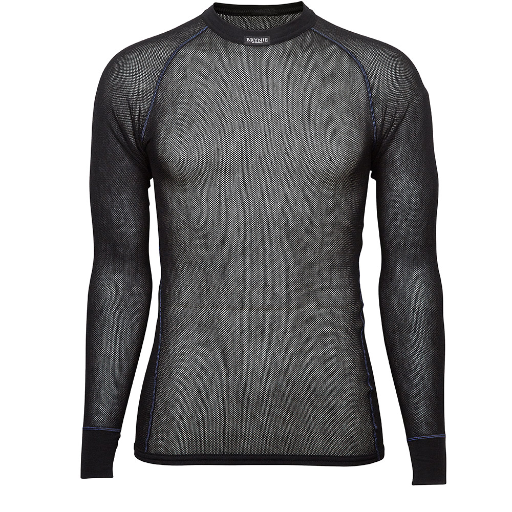 Wool Thermo Light Long Sleeve Shirt - Black