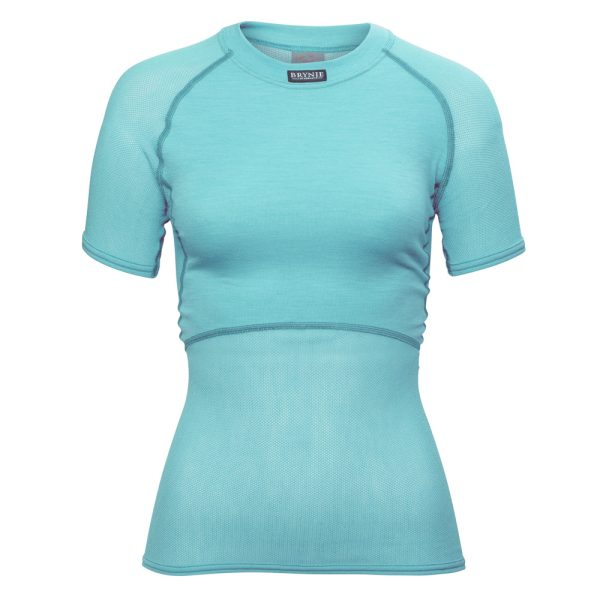 Women's Wool Thermo Light T-Shirt - Aqua