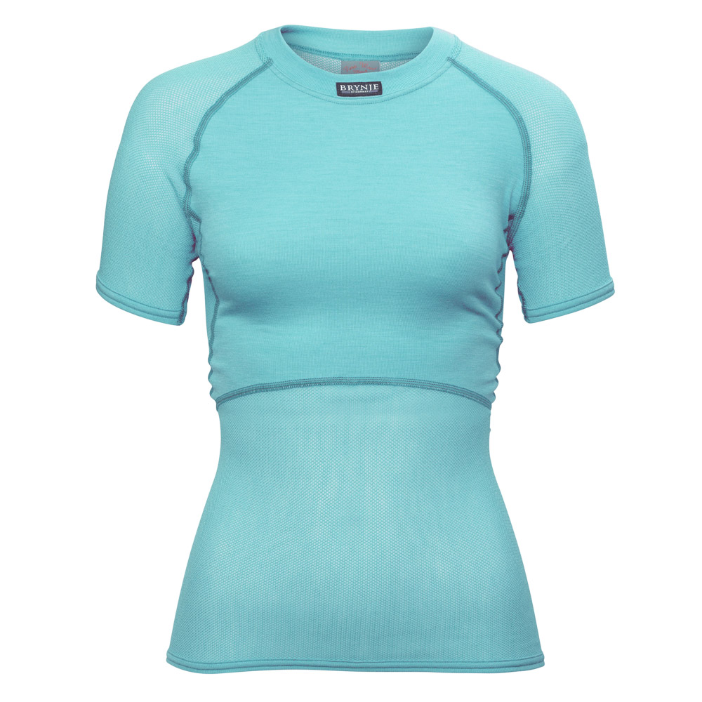 Women's Wool Thermo Light T-Shirt - Aqua