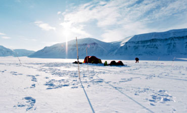 Base camp in winter