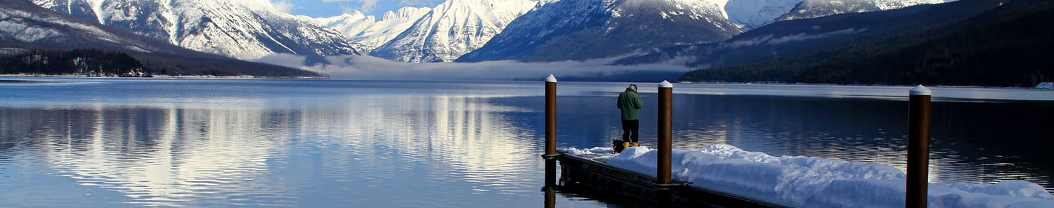 Man fishing on the lake with Brynje outerwear