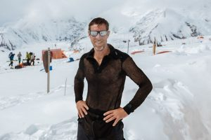 Dr. Andrew Peacock wearing his Brynje base layer